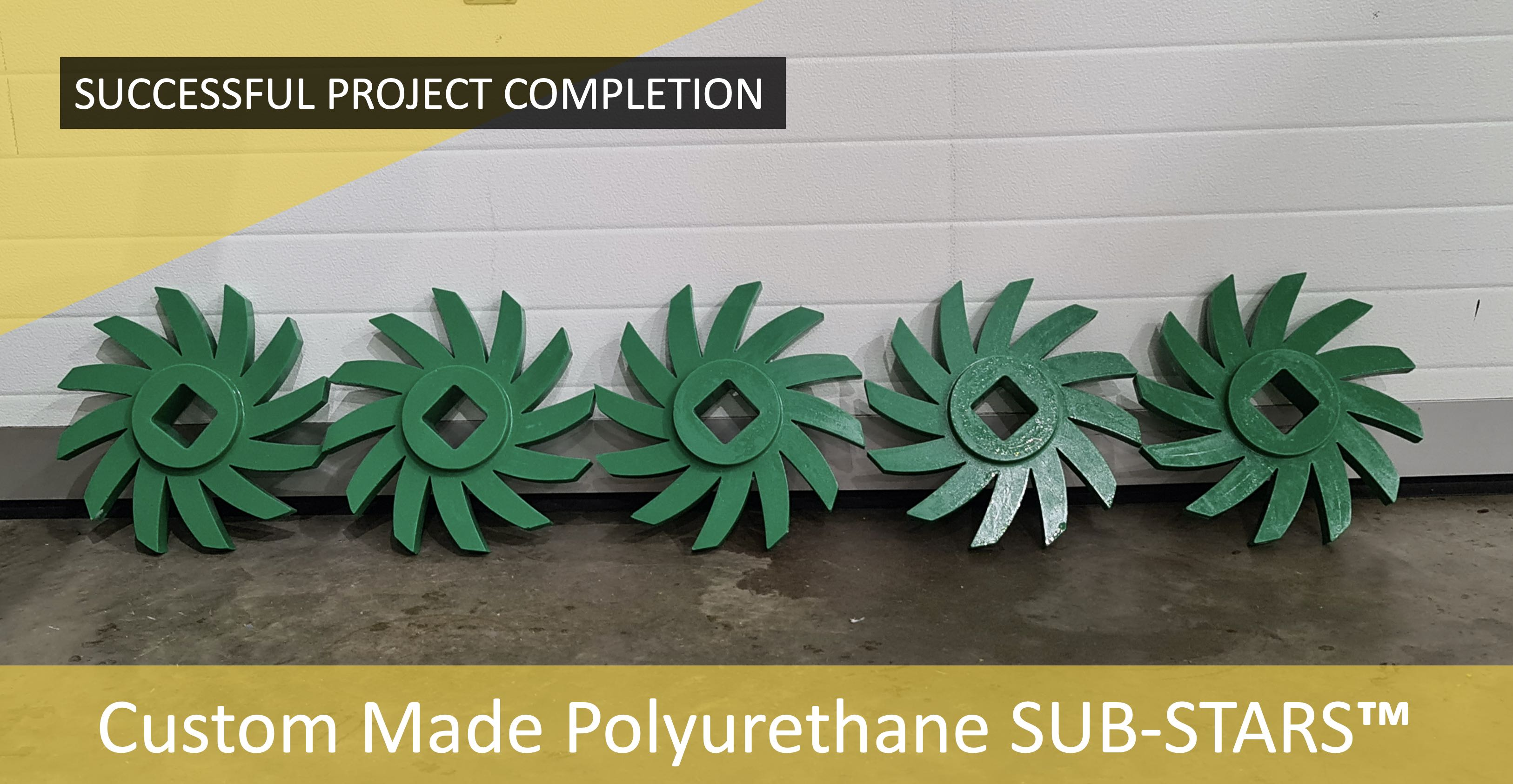 Subsea Energy Solutions (SES) complete custom Polyurethane SUB-STARS™ for large scale production machinery