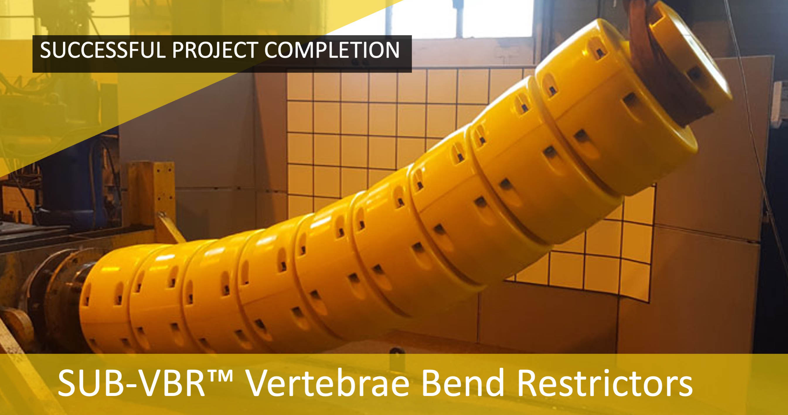 Subsea Energy Solutions (SES) completes major project in Africa for SUB-VBR™ Vertebrae Bend Restrictors.