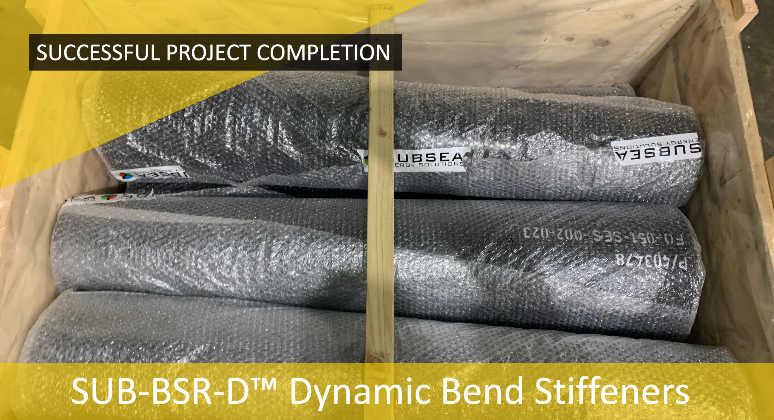 SES complete SUB-S-BSR™ Static Bend Stiffener project for an important and prestigious client